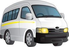 Taxi bianco del minibus Fotografie Stock