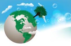 Vector il globo della terra Fotografia Stock