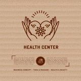 Vector il libretto sanitario del centro medico, il salone di bellezza, studio di massaggio della stazione termale Fotografie Stock