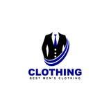 Vector il logo dell'abbigliamento, il negozio online, icona di modo illustrazione di stock