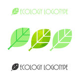 Vector il logo dell'ecologia o l'icona, logotype della natura Immagine Stock Libera da Diritti