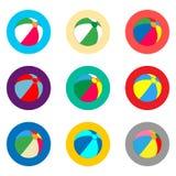 Vector il logo dell'illustrazione dell'icona per il beach ball di simboli stabiliti per il pla Fotografia Stock Libera da Diritti