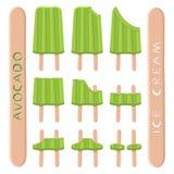 Vector il logo dell'illustrazione per il gelato naturale dell'avocado royalty illustrazione gratis