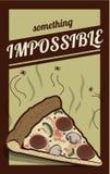 Vector il manifesto della pizza con la citazione creativa per l'affare culinario illustrazione di stock