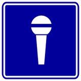 Vector il microhone o il segno del mic Fotografie Stock
