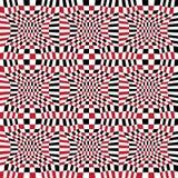 Vector il modello astratto 3d, fondo senza cuciture rosso della geometria dei pantaloni a vita bassa della geometria di colore Immagini Stock