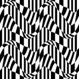 Vector il modello astratto della geometria dei pantaloni a vita bassa, il fondo geometrico senza cuciture in bianco e nero, il cu royalty illustrazione gratis
