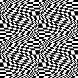 Vector il modello astratto della geometria dei pantaloni a vita bassa, il fondo geometrico senza cuciture in bianco e nero, il cu Immagini Stock Libere da Diritti