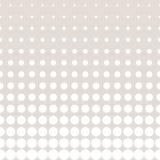 Vector il modello dei cerchi del semitono nei colori pastelli, nel beige & nel bianco Fotografia Stock Libera da Diritti