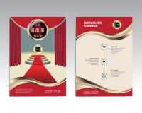 Vector il modello della disposizione di progettazione dell'aletta di filatoio dell'opuscolo, la dimensione A4 Fotografia Stock Libera da Diritti