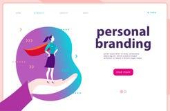 Vector il modello della pagina Web - marcare a caldo personale, la comunicazione commerciale, consultarsi, progettante Progettazi royalty illustrazione gratis