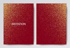 Vector il modello di festa con le scintille su fondo rosso illustrazione di stock
