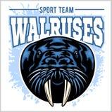 Vector il modello di logo del tricheco per gli sport di squadra, l'affare ecc royalty illustrazione gratis
