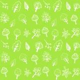 Vector il modello, l'ecologia delle siluette degli alberi Immagini Stock Libere da Diritti