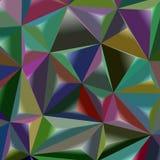 Vector il modello poligonale geometrico astratto del triangolo 3d dell'illustrazione Fotografie Stock