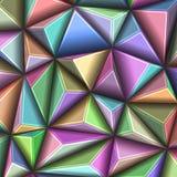 Vector il modello poligonale geometrico astratto del triangolo 3d dell'illustrazione Immagine Stock Libera da Diritti