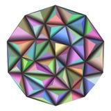Vector il modello poligonale geometrico astratto del triangolo 3d dell'illustrazione Fotografie Stock Libere da Diritti