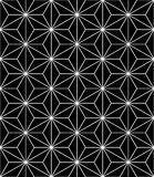 Vector il modello sacro senza cuciture moderno della geometria, estratto in bianco e nero royalty illustrazione gratis