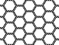 Vector il modello sacro senza cuciture moderno della geometria, estratto in bianco e nero Fotografia Stock Libera da Diritti