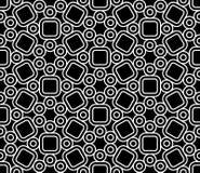 Vector il modello sacro senza cuciture moderno sveglio, estratto in bianco e nero della geometria Fotografia Stock Libera da Diritti