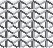 Vector il modello sacro senza cuciture moderno trippy, estratto in bianco e nero della geometria Fotografie Stock
