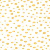 Vector il modello senza cuciture con l'ornamento disegnato a mano del punto fatto nel colore di giallo dell'estate Fotografie Stock Libere da Diritti