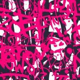 Vector il modello senza cuciture dei graffiti con la t luminosa variopinta astratta Fotografia Stock