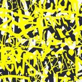 Vector il modello senza cuciture dei graffiti con la t luminosa variopinta astratta Fotografia Stock Libera da Diritti