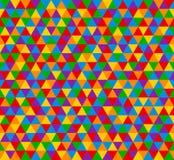 Vector il modello senza cuciture del triangolo, fondo nei colori luminosi royalty illustrazione gratis