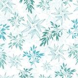 Vector il modello senza cuciture dell'estate tropicale delle foglie dell'alzavola con le piante tropicali e le foglie verdi e blu Fotografie Stock