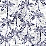 Vector il modello senza cuciture della foresta del disegno della mano per il tropico dell'estate Fotografie Stock Libere da Diritti