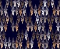 Vector il modello senza cuciture delle piume con gli elementi grafici per la stampa sul tessuto Fotografia Stock