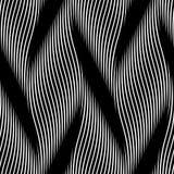 Vector il modello senza cuciture delle trecce e delle linee ondulate lineari della curva illustrazione vettoriale