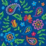 Vector il modello senza cuciture di Paisley del ricamo, l'ornamento decorativo del tessuto, il cuscino o la decorazione della ban illustrazione vettoriale