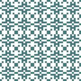 Vector il modello senza cuciture etnico del pixel geometrico dell'ornamento con i quadrati d'intersezione illustrazione di stock