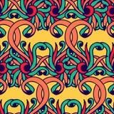 Vector il modello senza cuciture - fondo astratto nei colori luminosi Reticolo disegnato a mano Il modello senza cuciture può ess Fotografia Stock