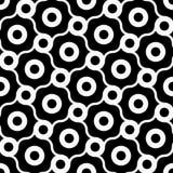 Vector il modello senza cuciture moderno della geometria, estratto in bianco e nero Fotografie Stock