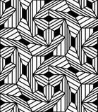 Vector il modello senza cuciture moderno della geometria, estratto in bianco e nero Immagini Stock