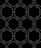 Vector il modello senza cuciture moderno della geometria, estratto in bianco e nero Fotografia Stock Libera da Diritti