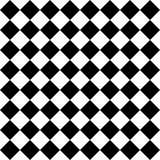 Vector il modello senza cuciture moderno a quadretti, estratto in bianco e nero della geometria Fotografia Stock