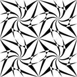 Vector il modello senza cuciture moderno trippy, estratto in bianco e nero della geometria Immagine Stock