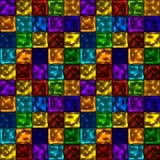 Vector il modello senza cuciture variopinto luminoso con gli elementi al neon quadrati illustrazione vettoriale