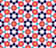 Vector il modello variopinto senza cuciture moderno del cerchio della geometria, estratto di colore Immagine Stock Libera da Diritti