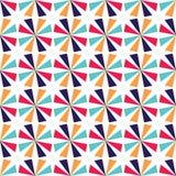 Vector il motivo a stelle variopinto senza cuciture moderno della geometria, estratto di colore Fotografia Stock