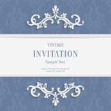 Vector il Natale di Gray Floral 3d ed il fondo delle carte dell'invito Immagine Stock Libera da Diritti