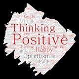 Vector il pensiero positivo, pennello forte felice di atteggiamento illustrazione di stock