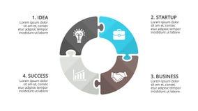Vector il puzzle infographic, il diagramma del ciclo, il grafico, grafico del cerchio della presentazione Concetto di affari con  royalty illustrazione gratis