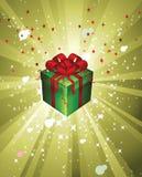Vector il regalo luminoso, ricordo su una festa immagini stock