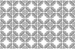 Vector il reticolo della carta da parati in in bianco e nero Fotografia Stock