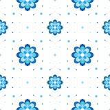 Vector il reticolo floreale Variazione sul tema di Gzhel Immagini Stock